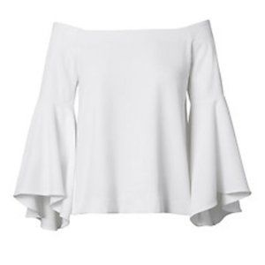 NWT White off the Shoulder Bell Sleeve Blouse
